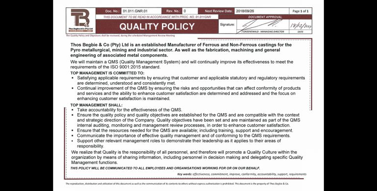 Quality-policy-